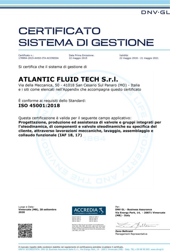 Sicurezza E Non Solo Atlantic Fluid Tech